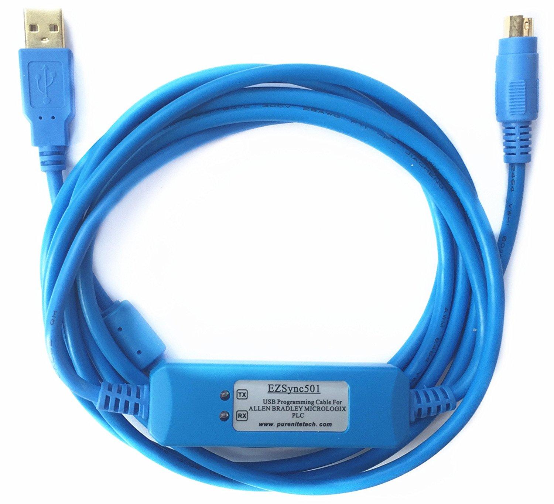 EZSync USB PLC Programming Cable for Allen Bradley Micrologix, 1761 ...